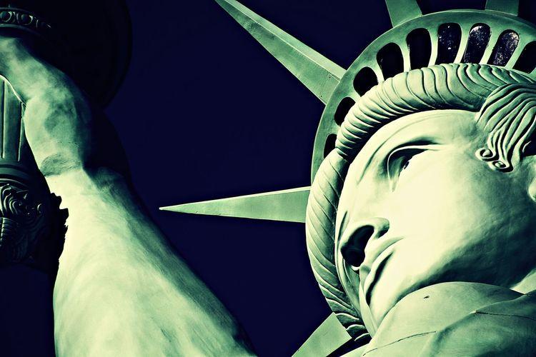 Statue of Liberty,America,American Symbol America American Art And Craft Blue Sky Creativity Crown Ellis Island  Enjoying Life EyeEm Best Shots Famous Place Imigrantes Lady Liberty Manhattan Nevada Newyork Old Paris Paris, France  Seeing The Sights Statue Statue Of Liberty Symbol United States White