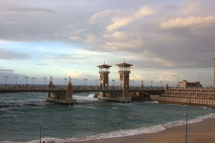 Stanly Bridge Alex Alexandria Egypt Water Sea Sea And Sky Seaside Seascape Summer Landscape Landscapes Bridge Arch Architecture Alexandria Egypt Sea View Sea And Sun Sky And Clouds Cloudy Day Clouds And Sky Cloudy Sky