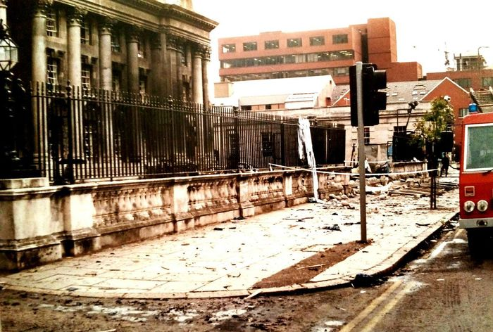 City Architecture Outdoors No People Belfast In 1989 1989 Damaged Damaged Building Bomb Explosion Northern Ireland