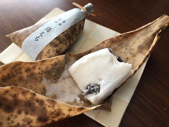 湯もち(Yumochi) Hakone Yumochi Japanese Sweets Table Indoors  High Angle View Food Paper Still Life White Color