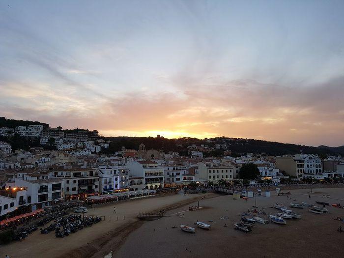 Spain Tossa De Mar Holiday Sunset