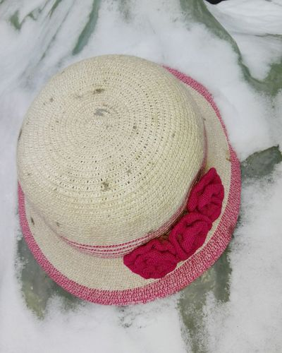 Woman Hat Snow Veronica IONITA Photography High Angle View Close-up
