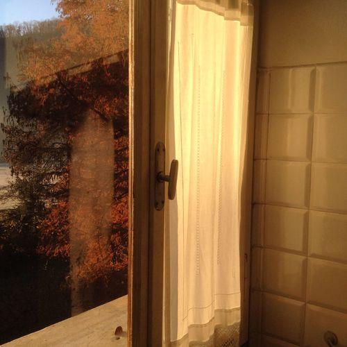Bathroom Curtain Glass Goldenlight Home Interior Indoors  Italy Light Old Textured  Tiles Transparent Window Winter Wintercolors Winterlight