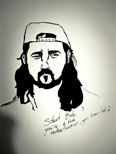 Drawing Silent Bob Clerks MOVIE