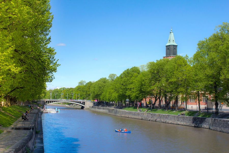 A sunny summer day in Turku Finland Architecture Built Structure Cities Of Europe Citiesworldwide Day First Eyeem Photo Green Color Growth Nature Nordic Countries Outdoors Scandinavia Sky Tree Turku The Essence Of Summer The Street Photographer - 2016 EyeEm Awards The Great Outdoors - 2016 EyeEm Awards Orginal Experiences