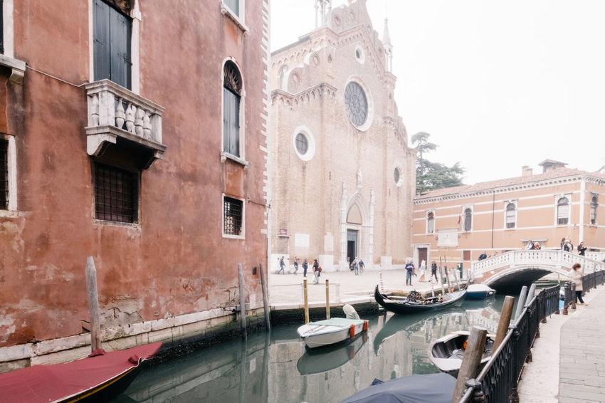 Architecture Building Exterior Built Structure Canal City Day Gondola - Traditional Boat Mode Of Transport Moored Nautical Vessel No People Outdoors Sky Transportation Travel Destinations Water Window