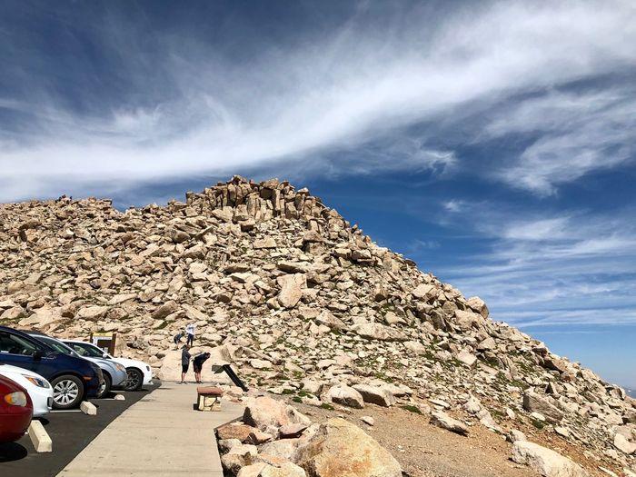 Colorado Blue Sky Fourteener Hiking Fourteeners Peak  EyeEm Selects Sky Cloud - Sky Motor Vehicle Car Nature Mode Of Transportation Sunlight Outdoors Travel