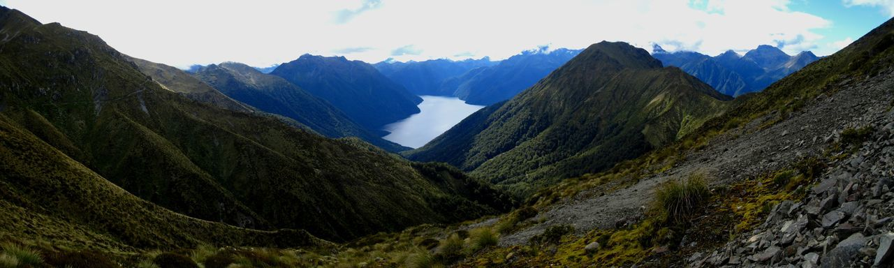 Mountain Mountain Range Scenics - Nature Sky Landscape Nature Beauty In Nature Environment Tranquility Tranquil Scene No People Panoramic Mountain Peak Cloud - Sky Land Day Valley Travel Destinations Outdoors Rock Formation New Zealand Panorama
