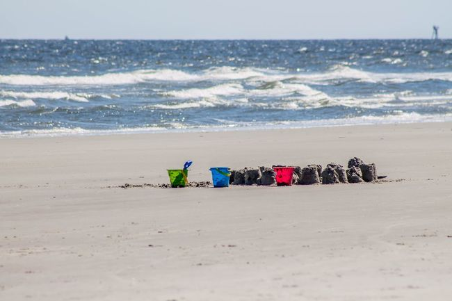 Play time Beach Sea Sand Horizon Over Water Wave Water Day Nature Sport Real People Beauty In Nature Outdoors Sky Color Colors Bucket Buckets