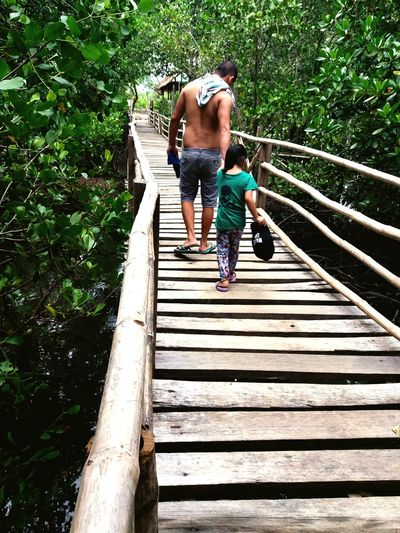 Connected By Travel Footbridge Outdoors Leisure Activity Nature Relationship Goals Father And Daughter Beautiful Nature Fatherslove Greattime