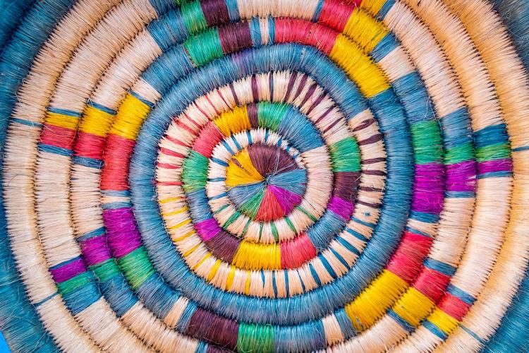 Full frame shot of multi colored rug