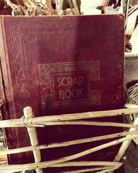 Leather Bound  Scrapbooking No People Day Indoors  Close-up Barn Treasures Scrap Scrapbook Baskets Dusty Old But Awesome Text Stationary 60's Antique Blank Page Kentucky  Collection Old Books
