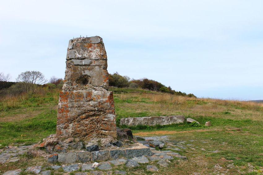 Стелла-памятник японскому военачальнику.