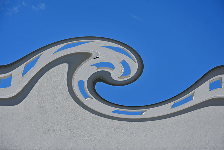 Mural Of Wave Against Blue Sky