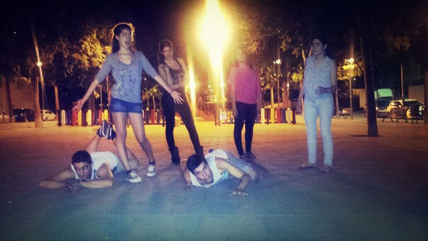 Good night in Terrassa City! Friends Love ♥ Summer'14 Melany, Soraya, Adriá, Desirée, Anais & Kenneth