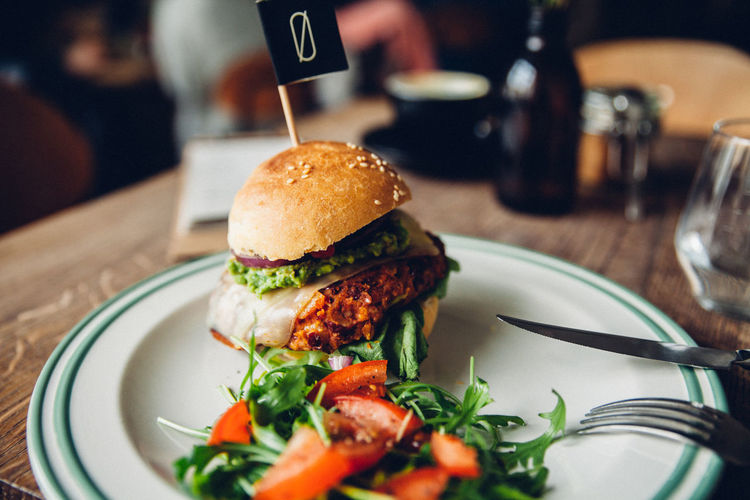 Burger Food Food And Drink Hamburger Ready-to-eat Table Vegan Vegetable