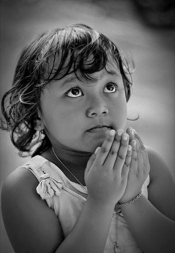 Dear God... Portrait Bw Praying Photography