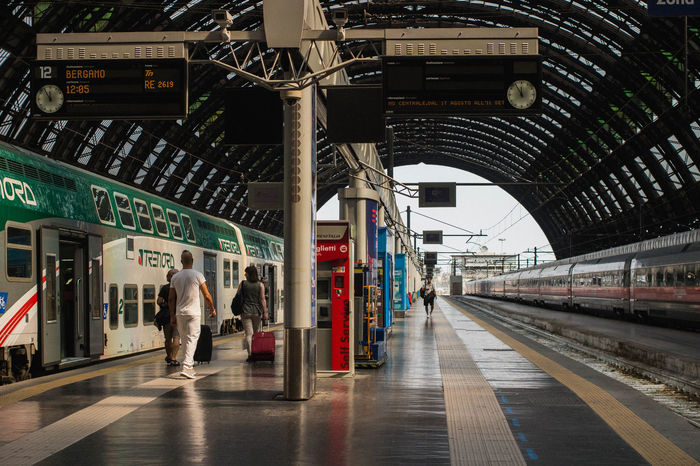 Central Station Departing Milan Milano Reflection Italy Ligth And Shadow Platform Public Transportation Rail Transportation Railroad Station Railroad Station Platform Railway Railway Platform Railway Station Train Train - Vehicle Train Station Transportation Trenitalia