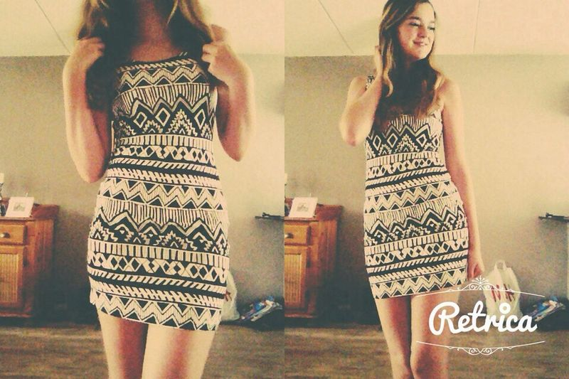 Another new dress that i have buy yesterday. I love him! Do you like it? Comment please!!! - Astec Astec Print Dress Black And White