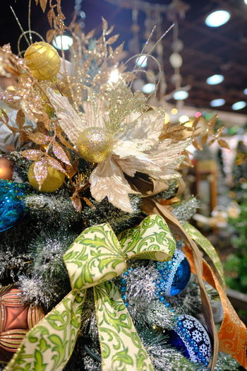 Close-up of christmas decoration for sale