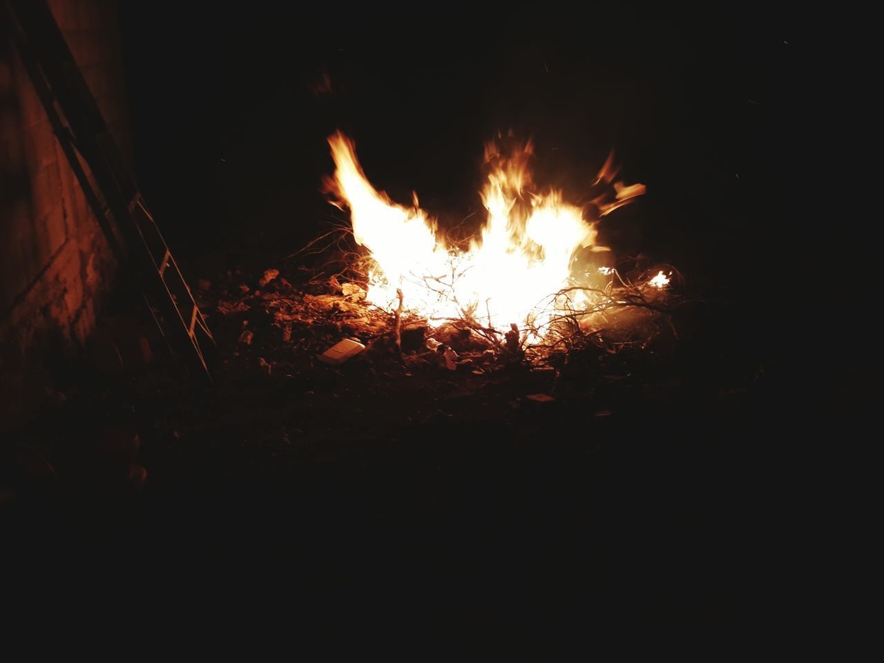 burning, night, flame, heat - temperature, no people, bonfire, outdoors, close-up, nature