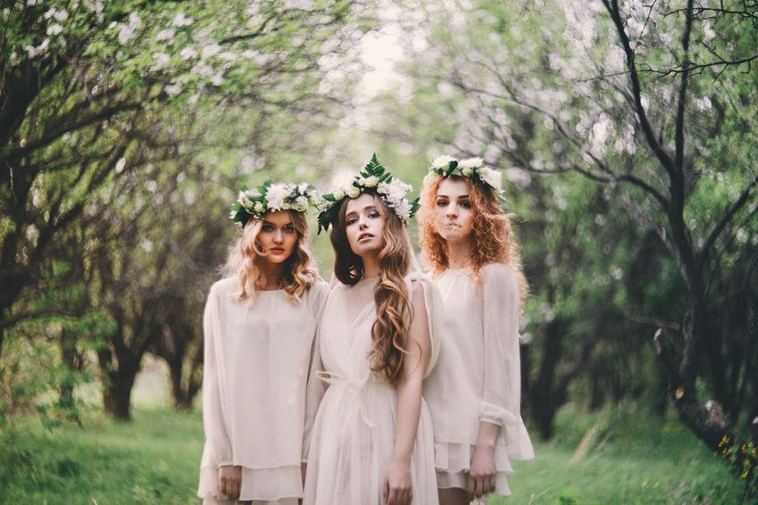 So looks like spring Portrait Nymphs Fairytale  Togetherness Forest Forest Photography Springtime Spring Flowers Spring Summer Summertime Forestwalk Forest Path Nikon Nikon D800 Nikonphotography Nikonphotographer Wreath Helios гелиос40 Гелиос VSCO The Portraitist - 2017 EyeEm Awards Young Women Light And Shadow
