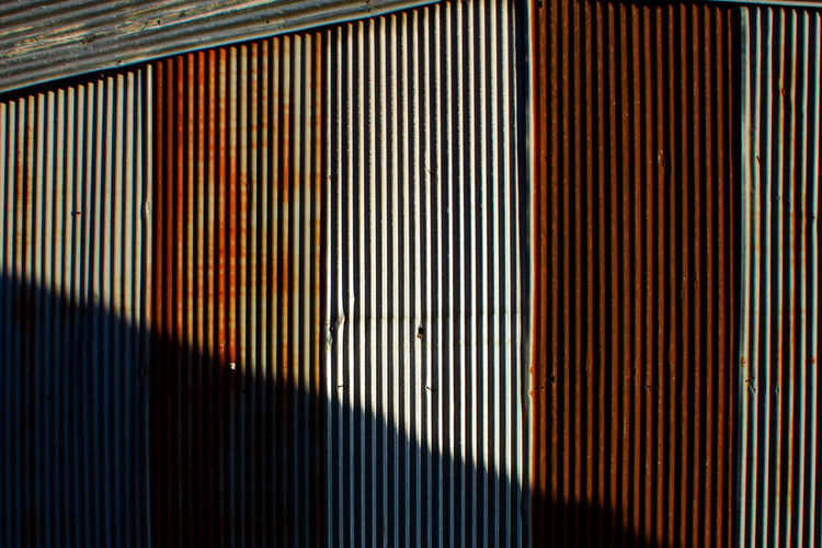Abstract Architecture Backgrounds Close-up Corrugated Iron Day Galvanized Galvanized Vertical Indoors  Metal Multi Colored No People Old Pattern Textured  Vertical