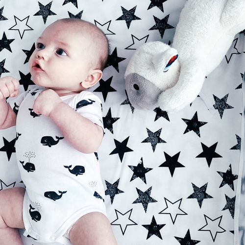Baby Young Child One Person Childhood Babyhood Real People Representation Indoors  Toddler  White Color Star Shape Cute Innocence Boy Baby Boy Baby Playing Cute Boy Cute Baby Lying Down Close-up Home Interior Boxer Baby Boxer Sheep Toy Newborn