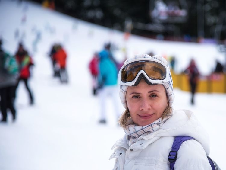 After skiing No Makeup No Make Up No Make-up Winter Snow Cold Temperature Winter Sport Warm Clothing Young Adult Portrait Ski Holiday Sport Adult People Smiling Young Women Only Women Looking At Camera One Person Ski Goggles Shades Of Winter