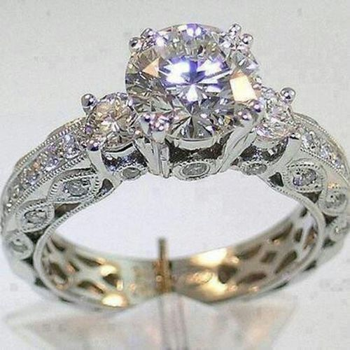 I give a simple ring to my girl, when a ring is a ring it doesn't matter how much it cost.