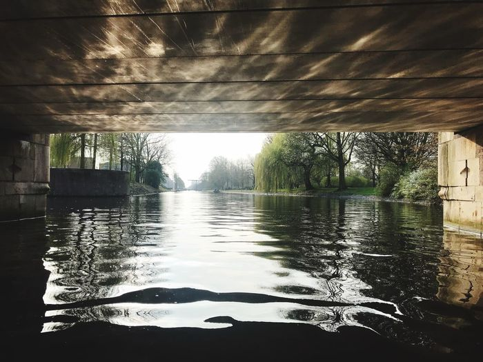 A small boat trip through Amsterdam. Serenity Under The Bridge Bridge Amsterdam Canal Amsterdam Water Architecture Nature Built Structure Reflection No People Plant Tree Sunlight Wet Park