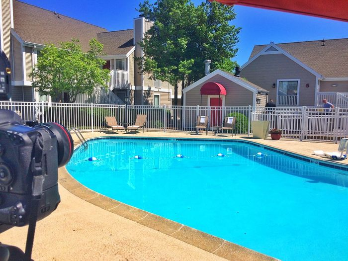 It's a beautiful day to be photographing a pool and so inviting! Pool Lexington Marriott