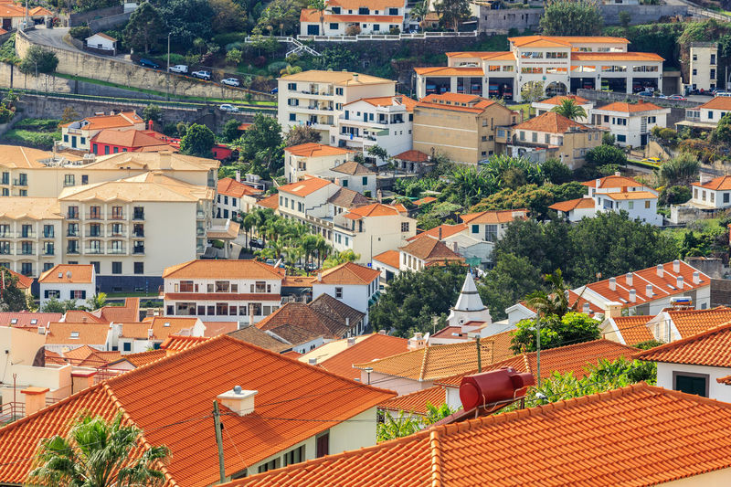 Madeira Island Architecture Building Exterior Built Structure Day High Angle View House Nature No People Outdoors Residential Building Roof Santa Cruz Tiled Roof  Tree