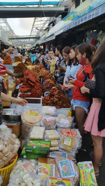 Tourists in food section at Con Market in Da Nang. Market Market Stall Food Đà Nẵng Vietnam Tourism Young Women