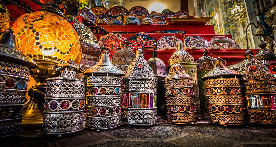 Arabian Arabic Choice Craft Day Indoors  Lantern Large Group Of Objects Light Market Multi Colored No People Retail  Still Life Street Streetphotography Variation
