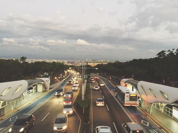 Taichung, Taiwan Taichung Taichung City View Bridge Viewfrombridge Cars Carline