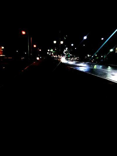 at a dark night. Night Illuminated City No People City Life Outdoors Sky Streetlights Streetphotography