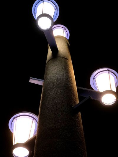 Energy EyeEm Gallery EyeEmNewHere Laterne Led Lights  LED Beleuchtung Kontrast Contrast Lights And Shadows Lights Energy Low Angle View Lighting Equipment Illuminated Night Architecture Built Structure No People Street Light Outdoors Light Glowing