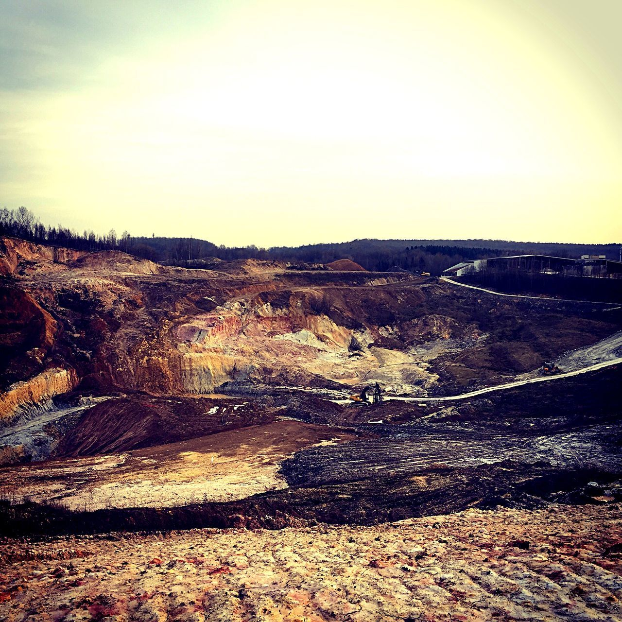 landscape, nature, outdoors, tranquil scene, beauty in nature, scenics, no people, tranquility, day, sky, coal mine