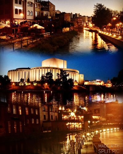 Full of lights... Picoftheday Architecture Built Structure Building Exterior Water Reflection City River Outdoors