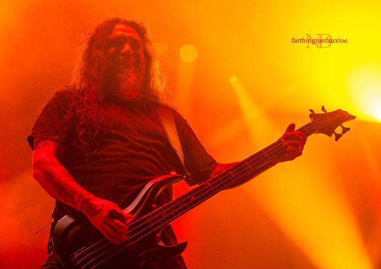 Tom Araya of Slayer. My Year My View Music Rock Music Guitarist Guitar Plucking An Instrument Electric Guitar Musician Arts Culture And Entertainment Rock Musician Performance EyeEm Best Shots Louderthanlife Concert Band Music Eye4photography  Metal Portrait Check This Out Singer  Kentucky  Music Festival Music <3 Heavy Metal