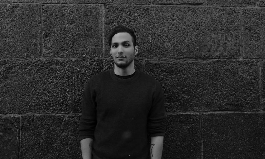 Myself. Blackandwhite Brick Wall Casual Clothing Childhood City City Life Day Front View Lifestyles Looking At Camera One Person Outdoors People Photography Portrait Portrait Of A Woman Real People Standing Young Adult