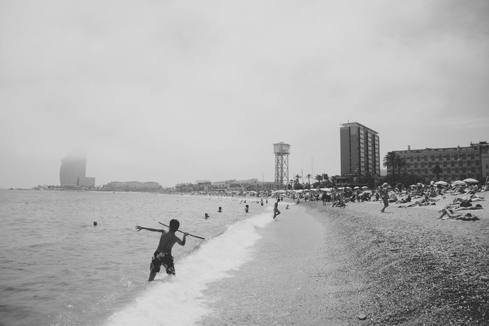 B&w B&w Photo B&w Photography Beach Black & White Black And White Black And White Photography Black&white Blackandwhite Photography Blackandwhitephotography Fog Outdoors Real People Sea Throwing  Unrecognizable Person Vacations Water Weather Telling Stories Differently The Great Outdoors - 2016 EyeEm Awards The Great Outdoors With Adobe People And Places Snap a Stranger Connected By Travel Black And White Friday Summer Exploratorium Visual Creativity Focus On The Story