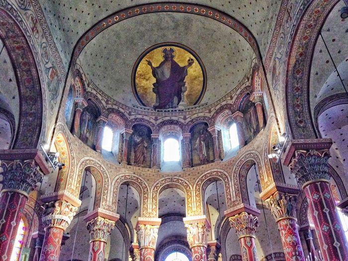 Church Eglise Saint Austremoine Issoire Auvergne France Colorful