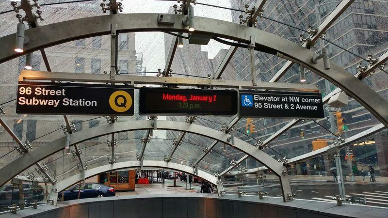 Transportation Arrival Departure Board Subway Station