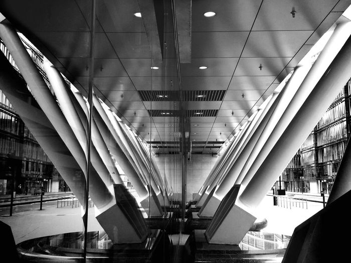 Holborn Viaduct, London London Holborn Viaduct Reflection City Cityscape Deserted Strut Structure Street