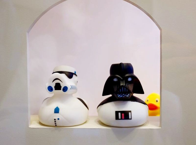 Star Wash: The Force Aquackens BabelFishEye Babelfish Gimme A Smile From My Point Of View Eye4photography  Unique Perspectives Rubber Duck Star Wars Funny Darth Vader Stormtrooper Minimalism Simplicity