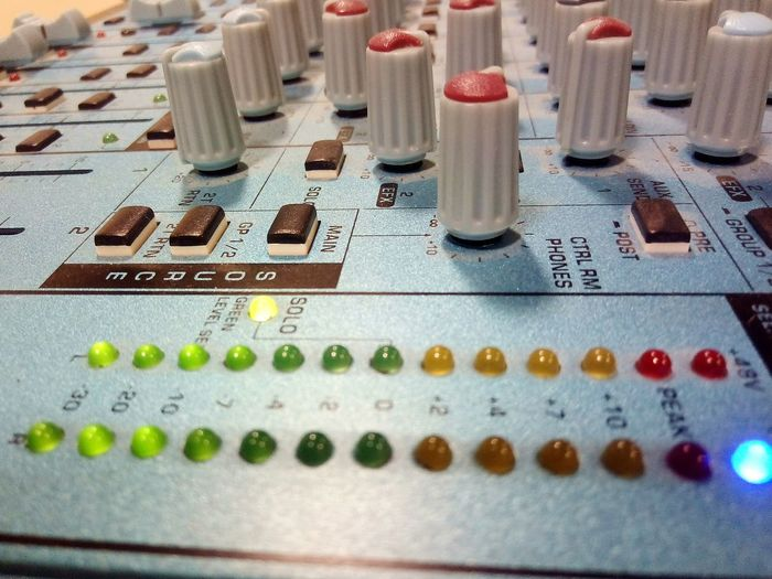 Multi Colored No People Sound Mixer Sound Soundsystem Knobs&buttons Mixedmedia Indoors  Close-up Phones Control Sound Table Sound Test