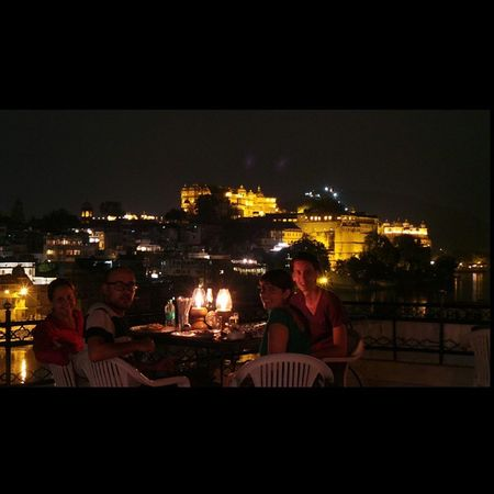 Dinner by the palace. Udaipur India Citypalace Dinnerwithfriends voyagerofworlds nightphotography longexposure hungry