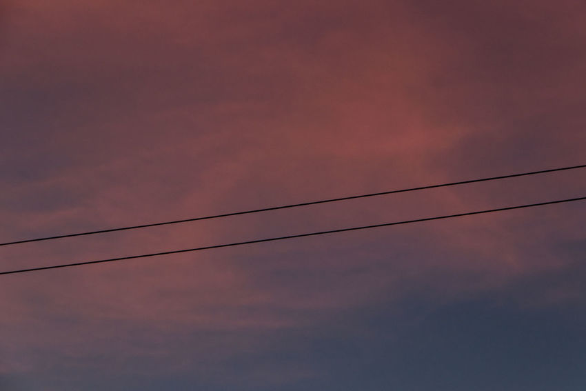 Universal connection II Sky Sunset Cable Beauty In Nature Orange Color Power Line  Silhouette Dusk Dramatic Sky Technology Telephone Line Power Supply Scenics - Nature Outdoors No People Purple Sky Gradient Sky Dramatic Sky Abstract Backgrounds Background Minimalism Wires In The Sky Wires And Sky Minimalist